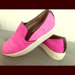 Sketcher Street Rise Fit Pink Studded Slip ons